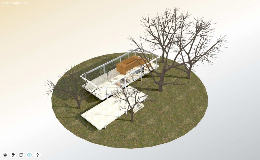 3D-модель Farnsworth House