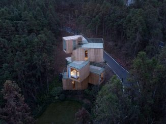 Дом-дерево (The Qiyun Mountain Tree House) в Китае от Bengo Studio.