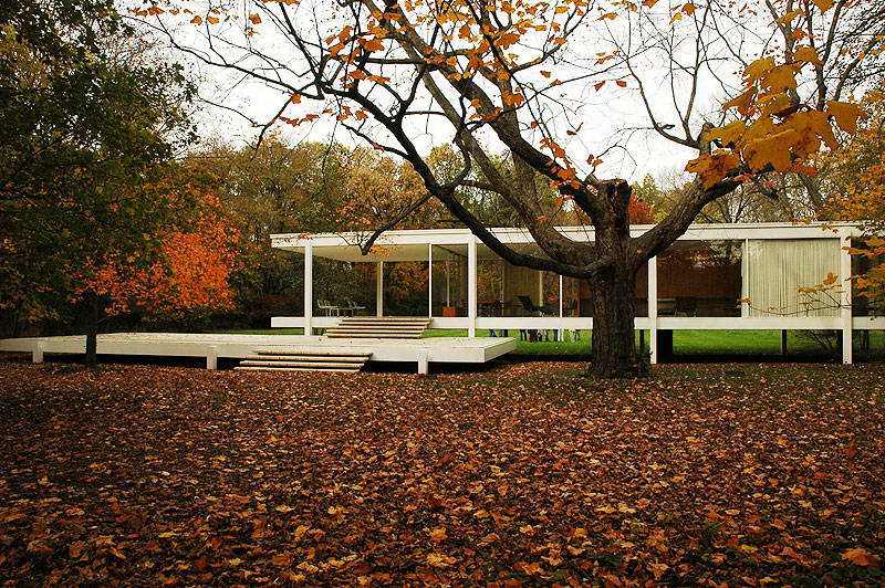 Фарнсуорт Хауз (The Farnsworth House) Мис ван дер Роэ (Mies van der Rohe).