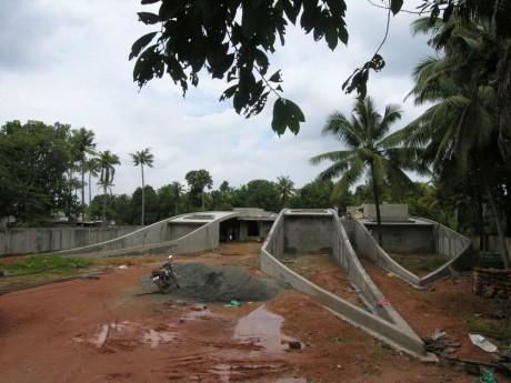 Дом с зелёной крышей в Индии