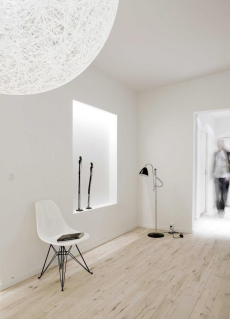 Белый пентхаус в Дании