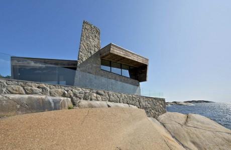 Дом на скалах в Норвегии
