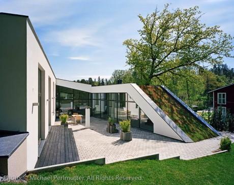 Дом-холм в Швеции