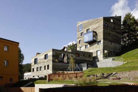 Слоистый дом в Швейцарии