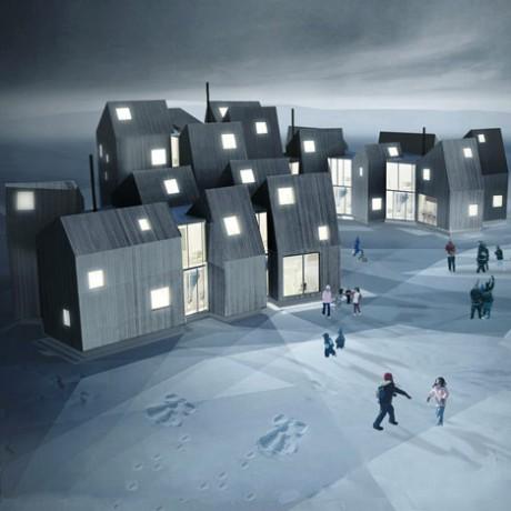 Дом семьи в Гренландии