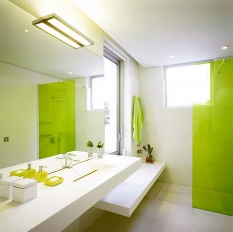 Ванная в салатовом цвете фото