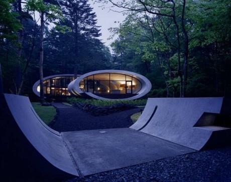 Дом-оболочка (Shell) в Японии от ARTechnic architects.
