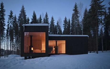 Четырёхугольная вилла (Four-cornered Villa) в Финляндии от Avanto Architects.