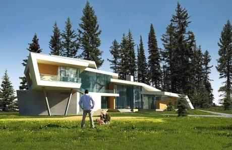 Дом в поселке Малаховка (House in Malakhovka) в России от АБ «Атриум».