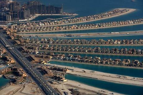 Остров Пальма Джумейра в Дубае. ОАЭ