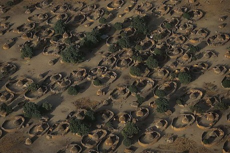 Деревня возле озера Чад. Республика Чад