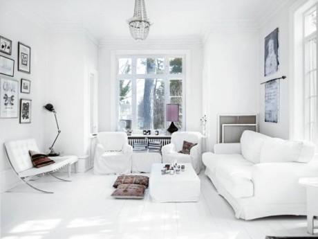 Белый интерьер в Швеции