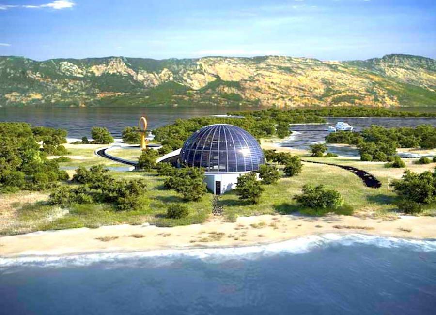 Вилла расположена на острове Плайа-де-Клеопарта. 25 комнат, 5 лоджий