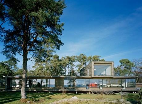 Дом на берегу в Швеции - Вилла Плюс (Villa Plus) в Швеции от Waldemarson Berglund.