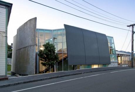 Дом с панцирем в Новой Зеландии