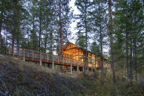 Лесной дом в США 7