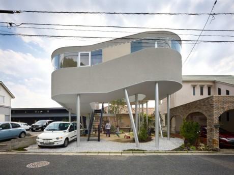 Дом-спираль в Японии