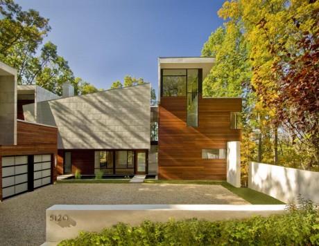 Лесной дом в США 5
