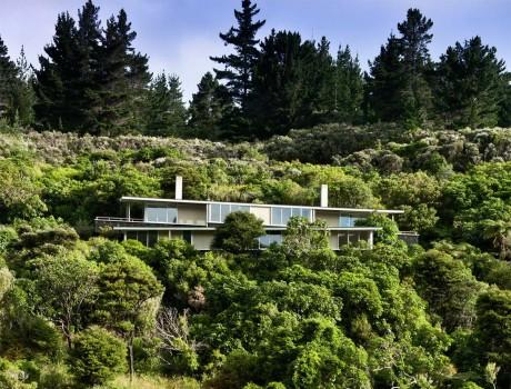 Дом на склоне в Новой Зеландии