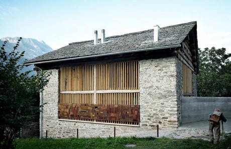 Дом из сарая в Швейцарии