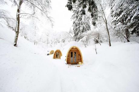 Дом-палатка в Швейцарии