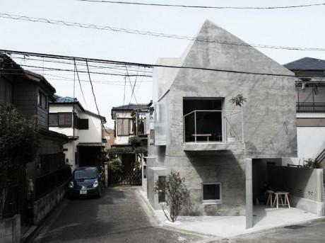 Бетонный дом в Японии 5