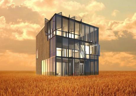 Дом-куб в балансе с природой