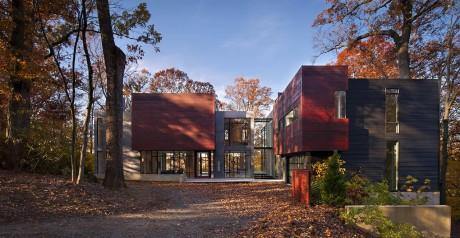 Лесной дом в США 9