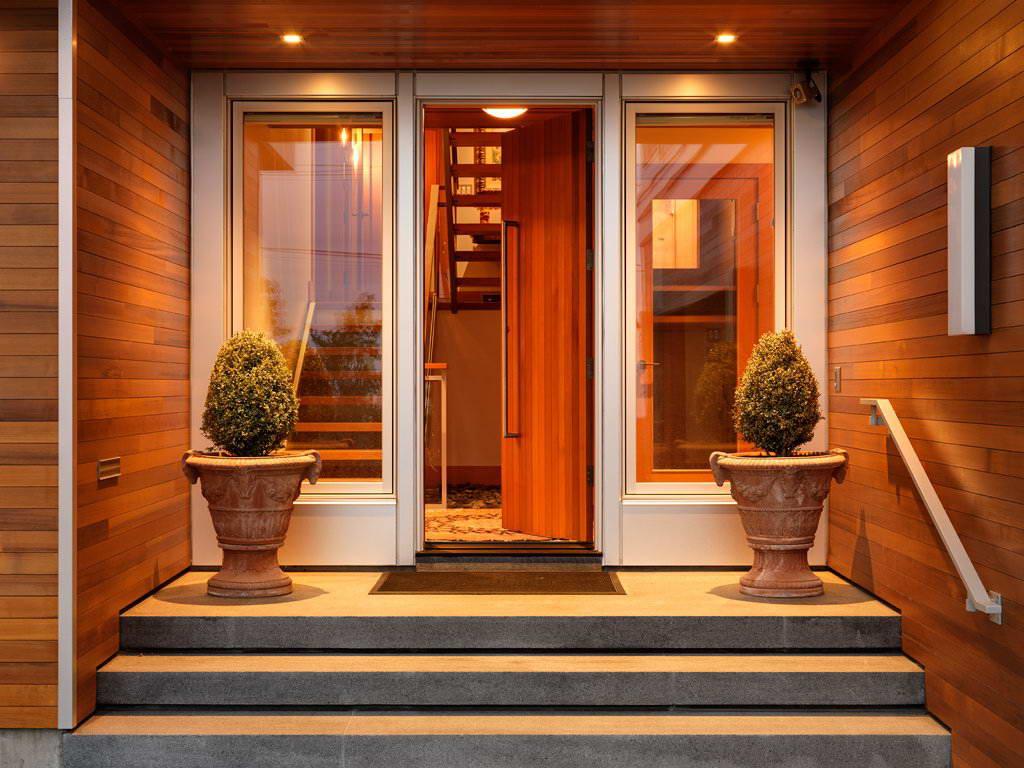 Как сделать вход в дом с холодным коридором предбанником верандой