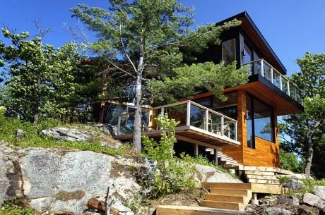 Дом у озера в Канаде 2