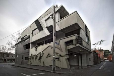 Дом-граффити в Австралии
