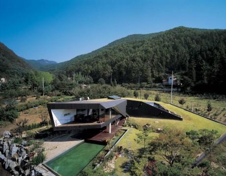 Дом-холм в Корее