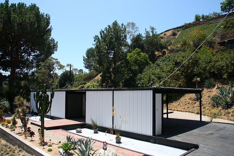 """study case house """"case study house 9, also known as the entenza house, was designed for arts & architecture publisher and editor john entenza as part of his innovative case study house program sponsored through the magazine the property is situated on a primarily flat parcel on a bluff in pacific palisades."""