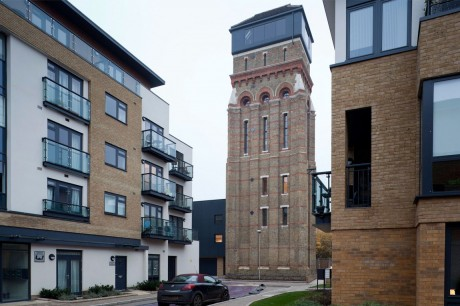 Дом из водонапорной башни в Англии