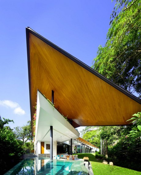 Крылатый дом в Сингапуре