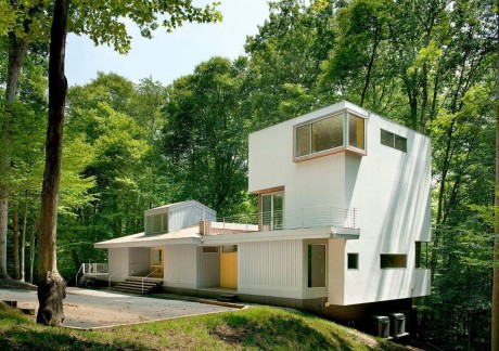 Лесной дом в США 14