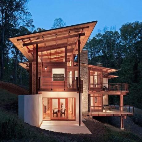 Лесной дом в США 15