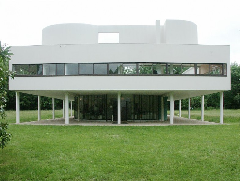 Вилла Савой (Villa Savoye) во Франции от Ле Корбюзье (Le Corbusier)
