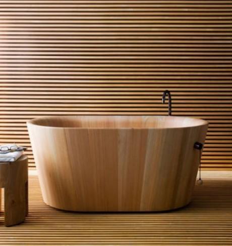 39 деревянных ванных комнат