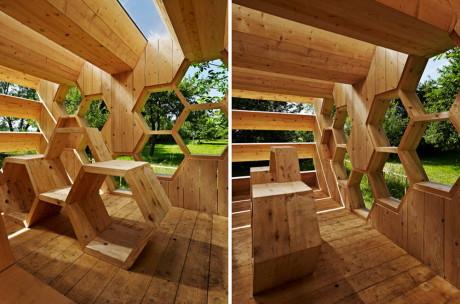 Деревянный павильон для сада