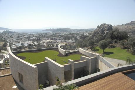 Проект посёлка на склоне у моря