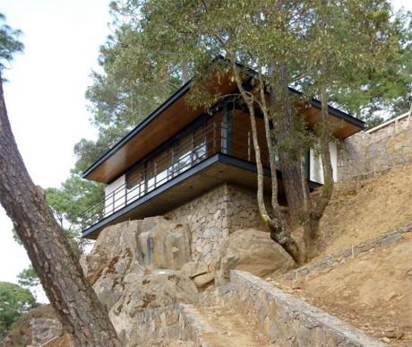 Дом на склоне в Мексике