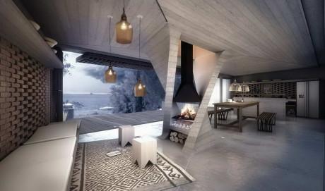 Дом с одной колонной (One Column House) в Аргентине от DiA Architecture.