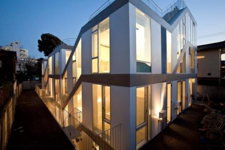 Проект многоквартирного городского дома в Японии