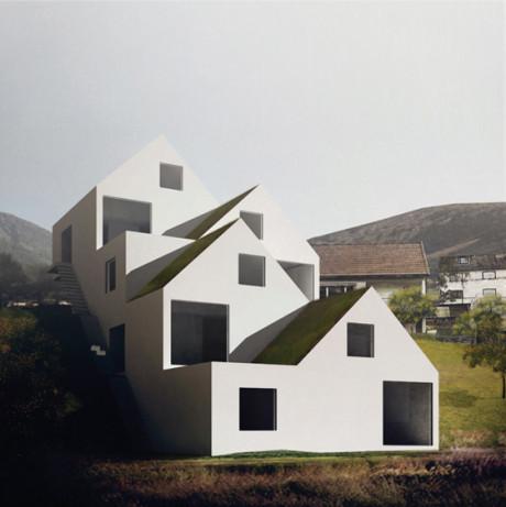 4 дома (4 Houses) в Норвегии от On Office.