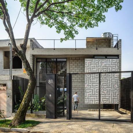 Дом Маракана (Casa Maracana) в Бразилии от Terra e Tuma Arquitetos Associados.