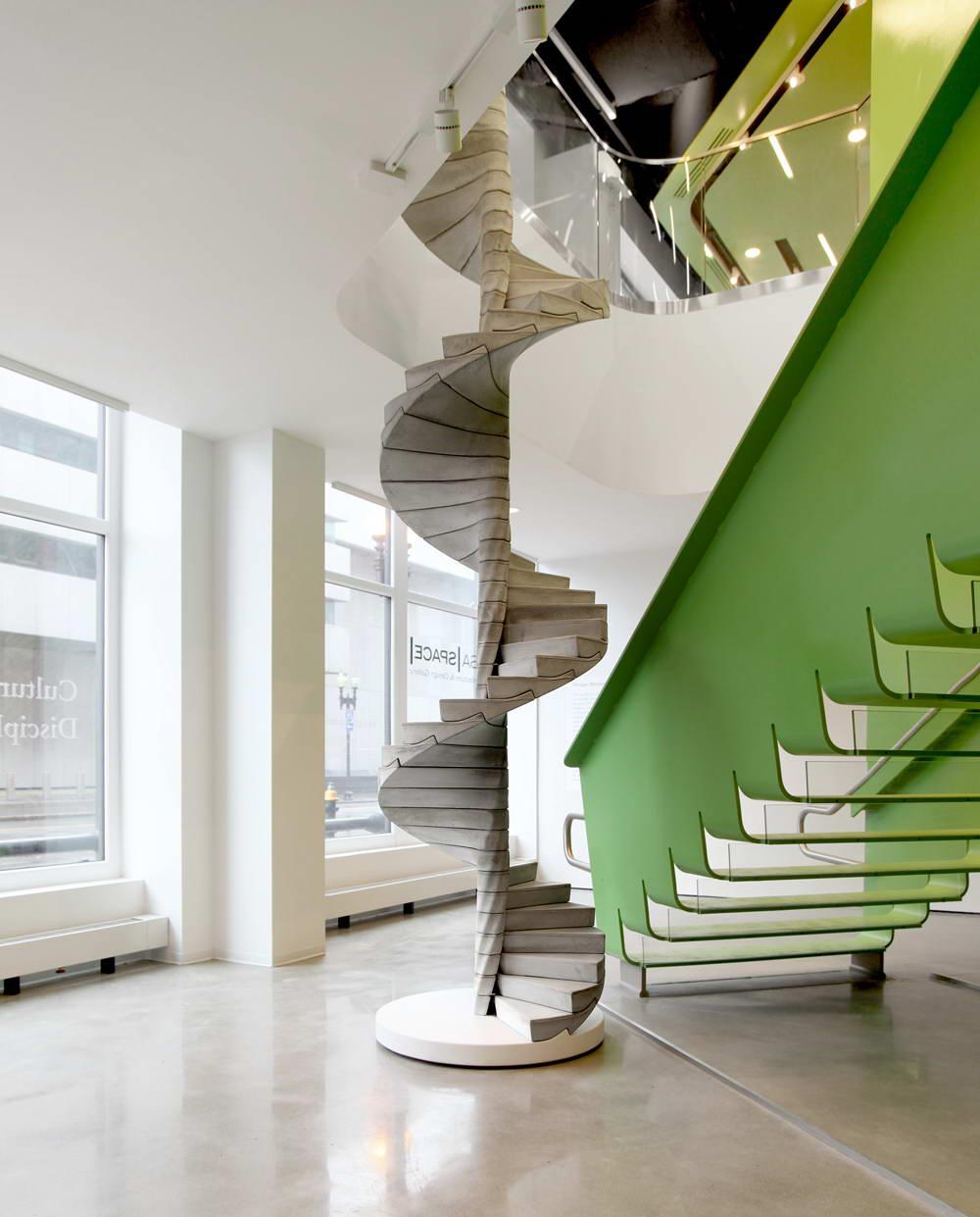 Дизайн бетонной лестницы