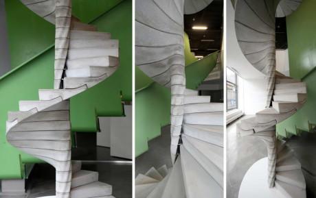 Дизайнерская спиральная лестница из бетона