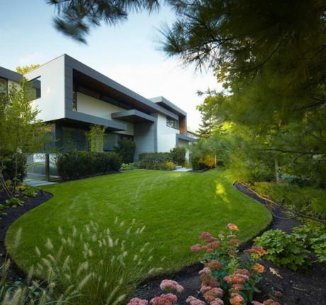 Ландшафт современного дома