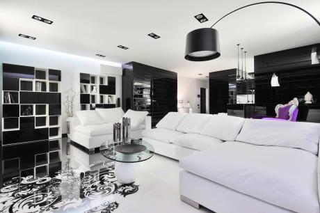 Современный чёрно-белый интерьер